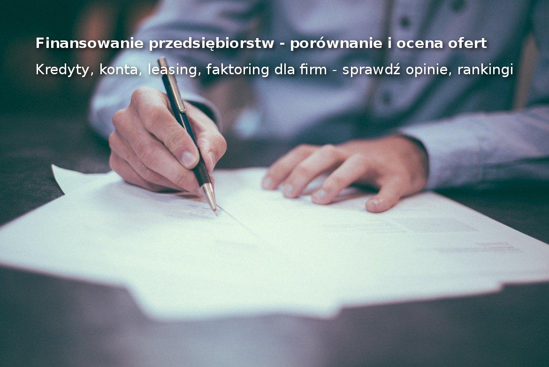 Finanse firmowe - finansowanie przedsiębiorstw