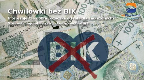 Chwilówki bez BIK - pożyczka od ręki