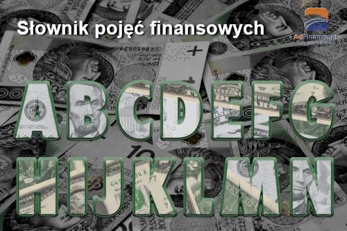 Słownik pojęć finansowych